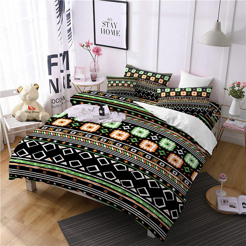 Fancy Hot Selling Bohemia National Pattern Series Christmas Element Bedding Set BK115