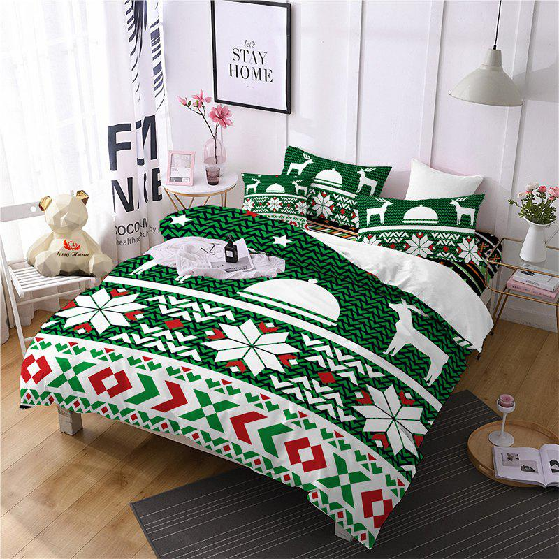Cheap Hot Selling Bohemia National Pattern Series Christmas Element Bedding Set BK123