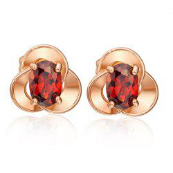Exquisite Petals Zircon Earrings ERZ0639 -