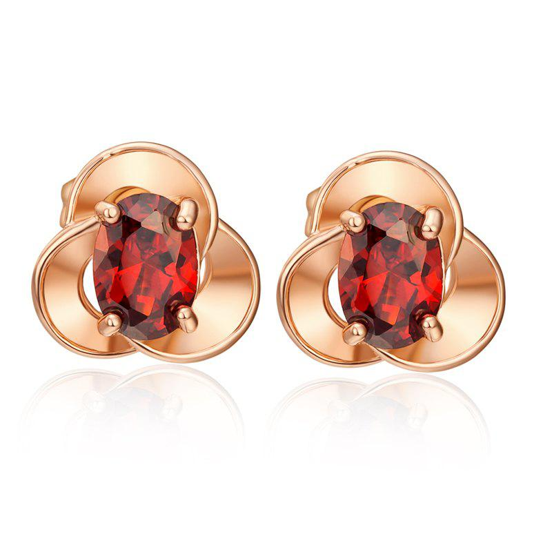 Discount Exquisite Petals Zircon Earrings ERZ0639