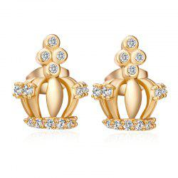 Fashion Elegance Crown Exquisite Zircon Earrings ERZ0655 -