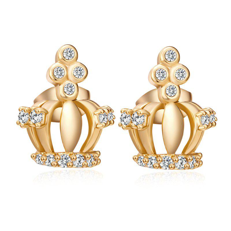 Fancy Fashion Elegance Crown Exquisite Zircon Earrings ERZ0655