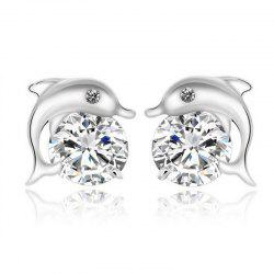 Fashion Dolphin Bay Fine Zircon Earrings ERZ0676 -