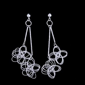 Fashion Elegant Platinum Electroplating Earrings TP0027 -