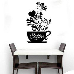 Coffee Cup Wall Sticker for Kitchen Decor -