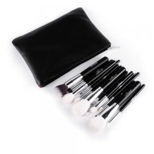 15PCS Wool Makeup Brushes with PU Leather Case -