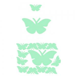 Noctilucent Engraving Adorable Butterfly Cartoon Switch Wall Sticker -