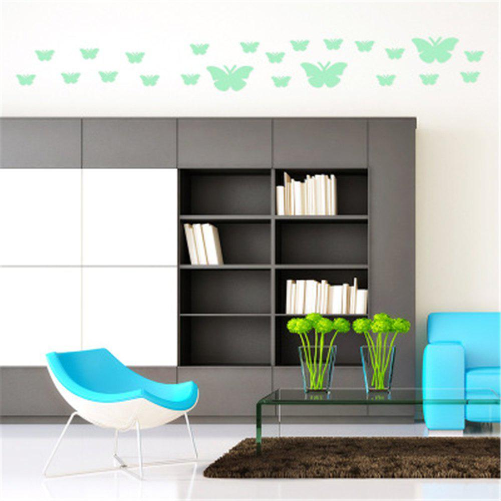 Affordable Noctilucent Engraving Adorable Butterfly Cartoon Switch Wall Sticker