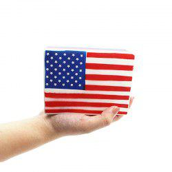 Jumbo Squishy Slow Rising Scented Squeeze Toys American Flag -