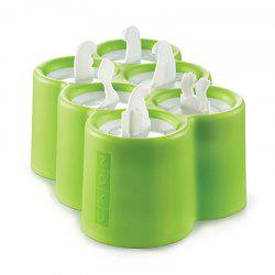 6 Different Easy-release Silicone Popsicle Molds in One Tray -