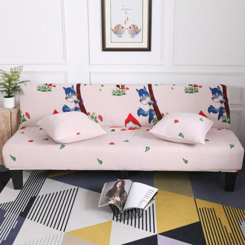 Discount Sofa Cover for Armless Sofa with Cartoon Patterns