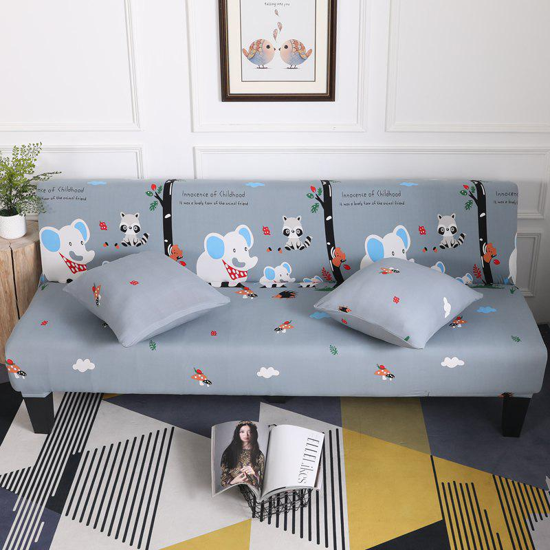 Online Sofa Cover for Armless Sofa with Cartoon Patterns