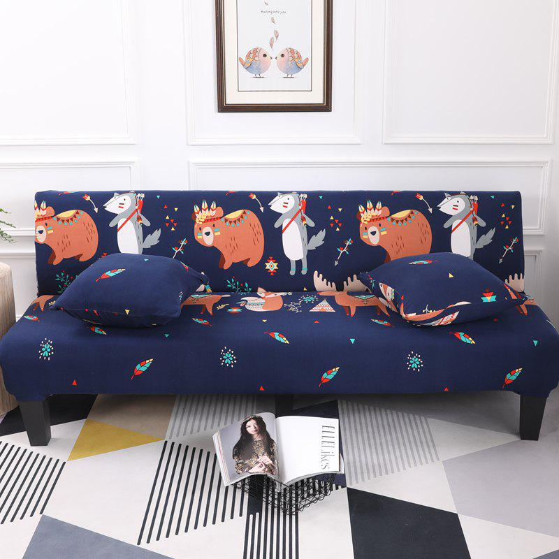 Outfits Sofa Cover for Armless Sofa with Cartoon Patterns