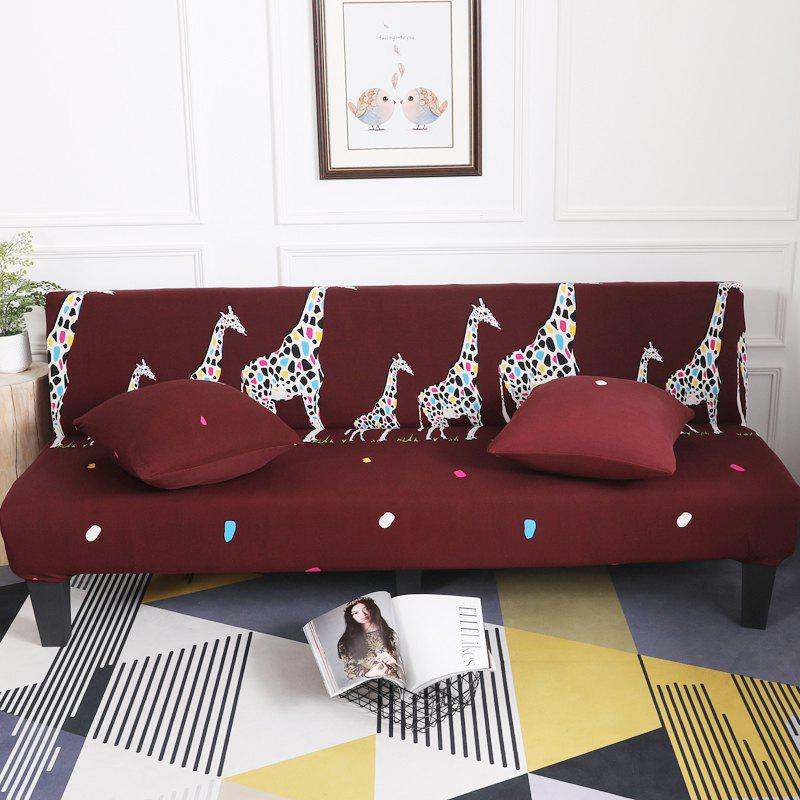 Fancy Sofa Cover for Armless Sofa with Cartoon Patterns