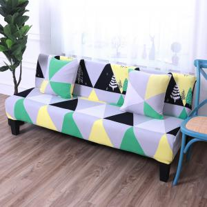 Sofa Cover for Armless Sofa with Printed Cloth -