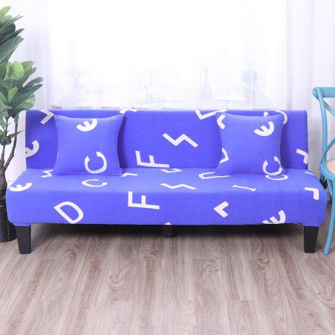 Buy Sofa Cover for Armless Sofa with Printed Cloth