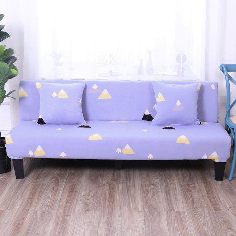 Chic Sofa Cover for Armless Sofa with Printed Cloth