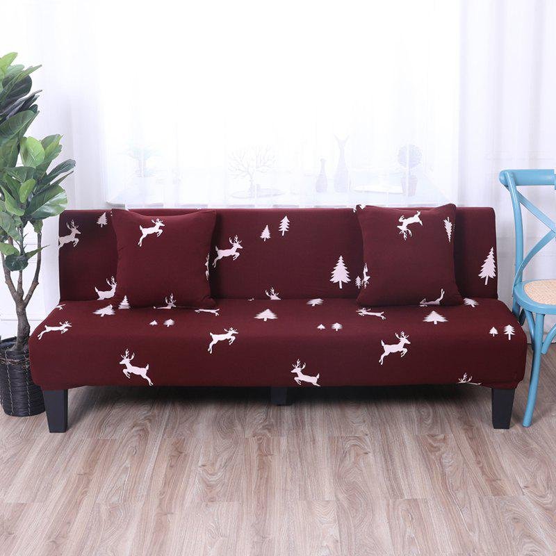 Fashion Sofa Cover for Armless Sofa with Printed Cloth