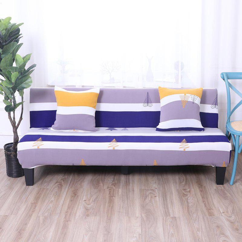 Trendy Sofa Cover for Armless Sofa with Printed Cloth
