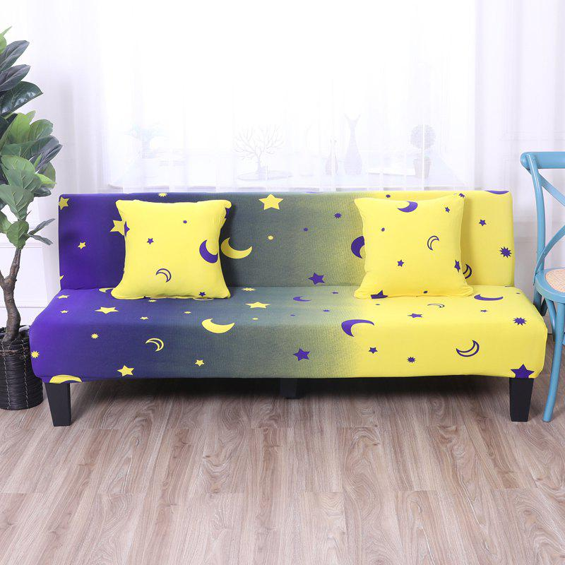 Store Sofa Cover for Armless Sofa with Printed Cloth