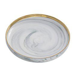 1 Piece Creative Marbling Ceramic Dinner Plate -