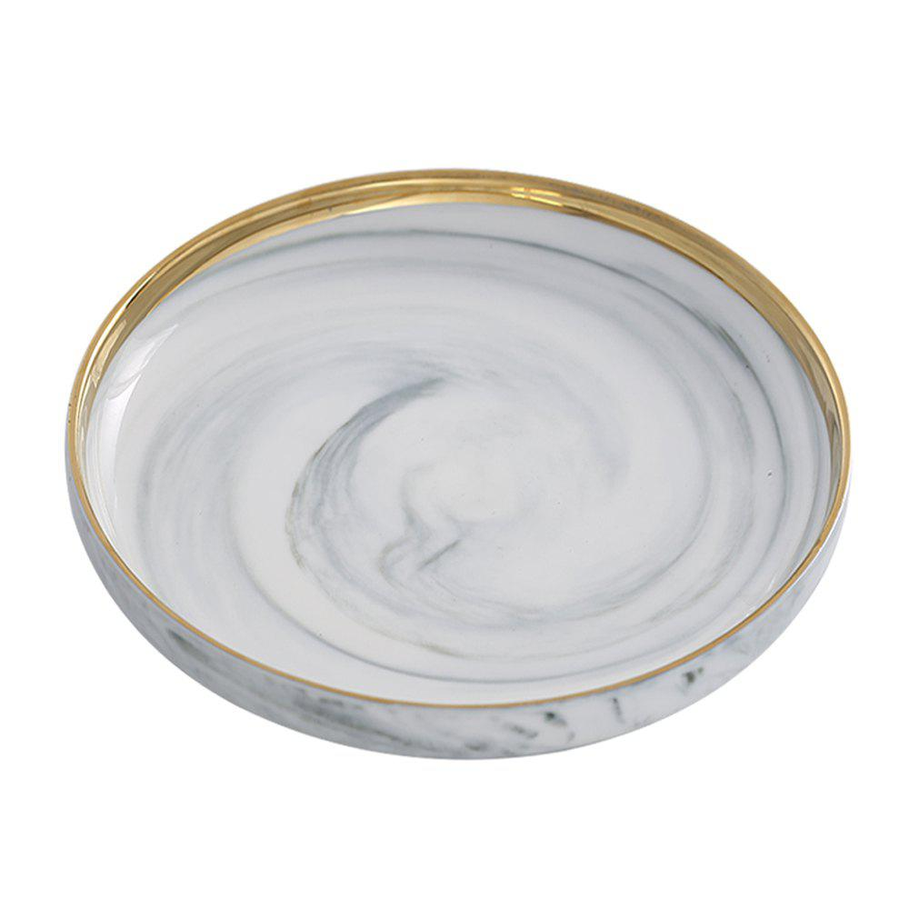 Online 1 Piece Creative Marbling Ceramic Dinner Plate