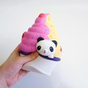 Медленная серия Rebound Cute Elastic Panda Ice Cream Toy Jumbo Squishy 5PCS -