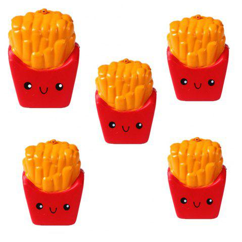 Fancy Emulation Slow Rebound Series of Lovely Elastic Fries Jumbo Squishy 5PCS