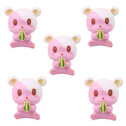 Slow Rebound Series of Cute Little Hamster Toys Jumbo Squishy 5PCS -