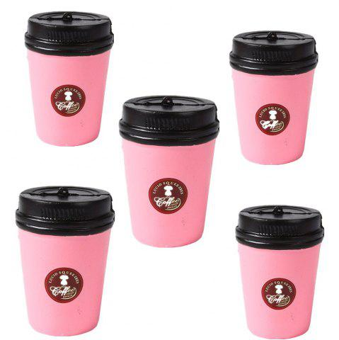 Outfit Slow Rebound Series of Lovely Elastic Plastic Cup Toys Jumbo Squishy 5PCS