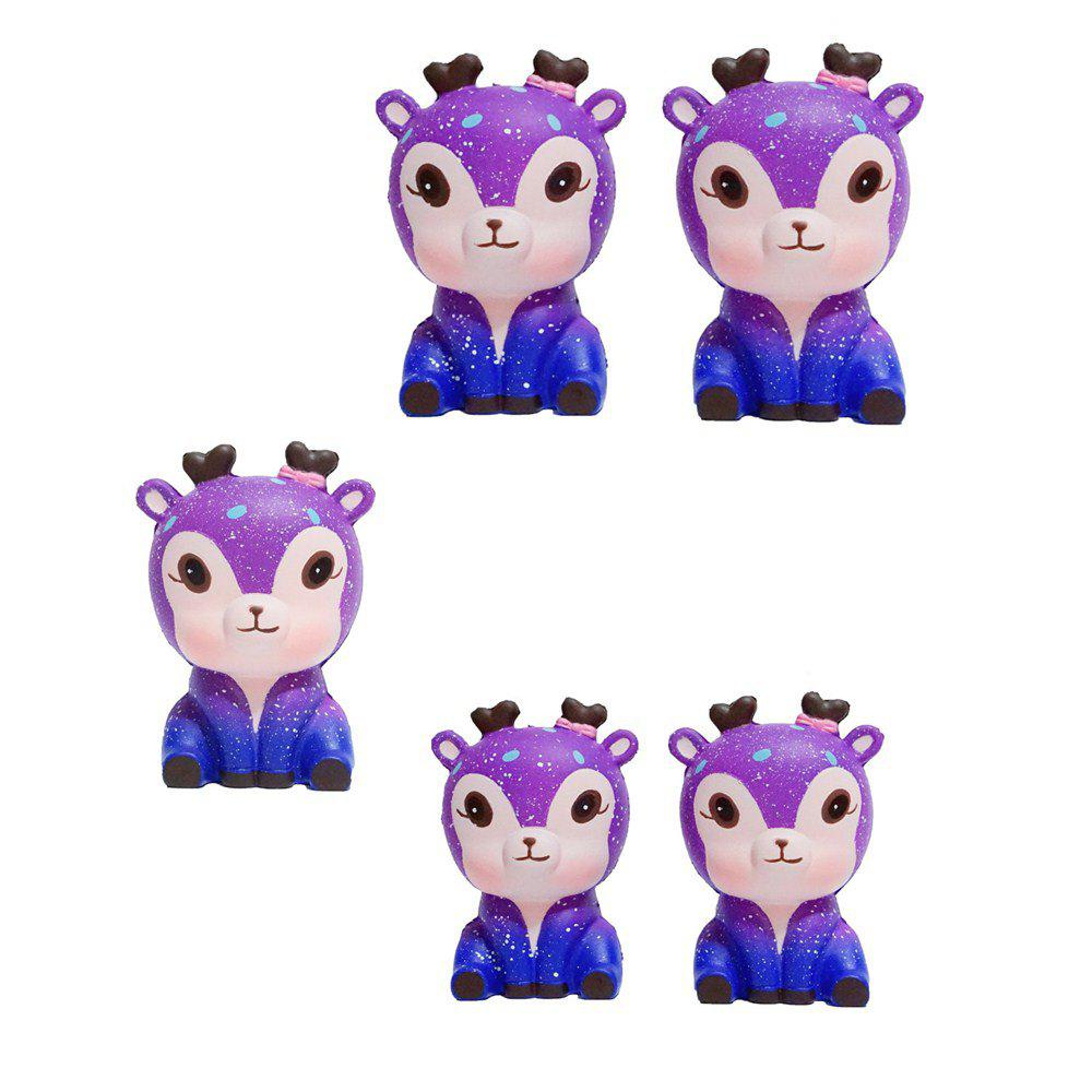 Chic Slow Springback Series of Lovely Elastic Starry Deer Toys Jumbo Squishy 5PCS