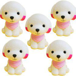 Slow Rebound Series of Lovely Elastic Puppy Toys Jumbo Squishy 5PCS -