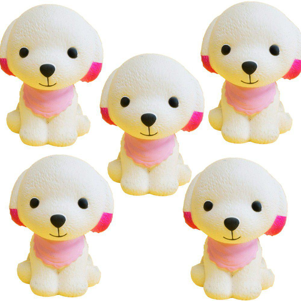 Affordable Slow Rebound Series of Lovely Elastic Puppy Toys Jumbo Squishy 5PCS