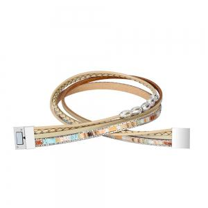 Fashion Accessories Multi - Layer Leather Transfer Beads Bracelet -