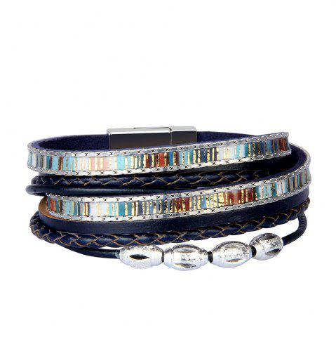 Hot Fashion Accessories Multi - Layer Leather Transfer Beads Bracelet