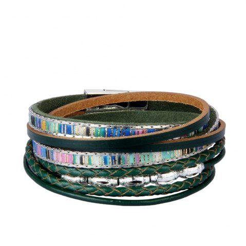 Best Fashion Accessories Multi - Layer Leather Transfer Beads Bracelet