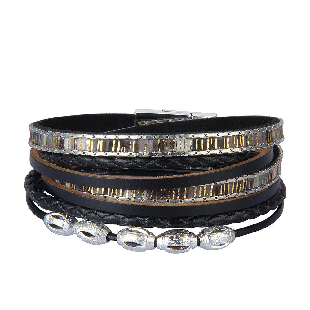 Shops Fashion Accessories Multi - Layer Leather Transfer Beads Bracelet