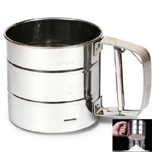 Brand New Stainless Steel Sieve Cup Powder Flour Mesh Sieve Baking Tools -