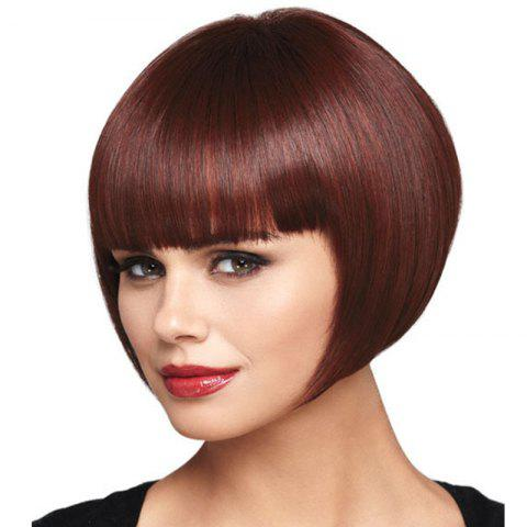 Store Wine Red Straight Bang Wig