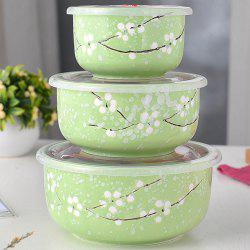 3PCS Insulated Ceramic Lunch Bowls Set -