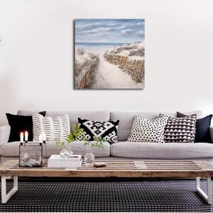 Framed Canvas Modern Background Wall Simple Scenery Decoration Hanging Print -