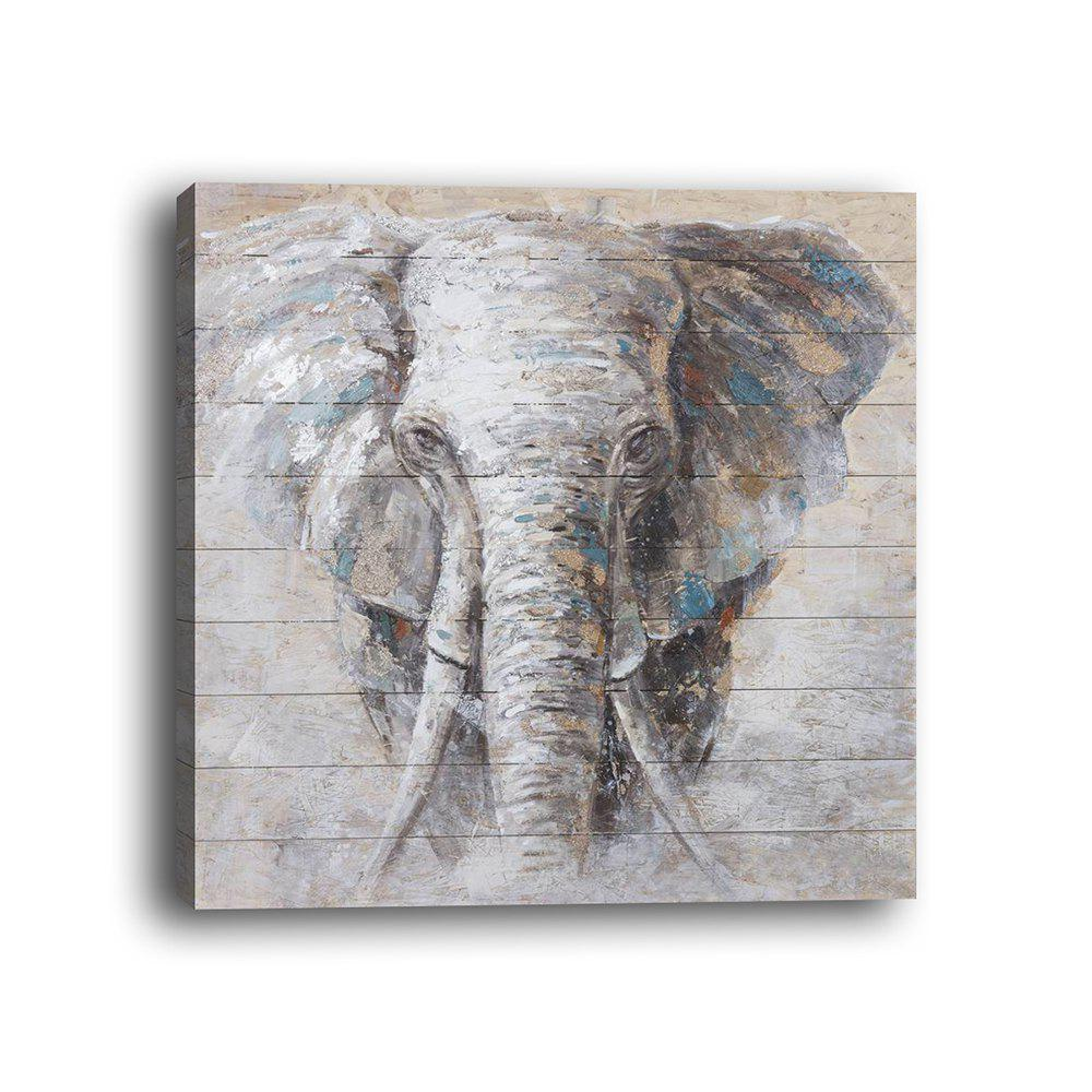 Cheap Framed Canvas Living Room Bedroom Background Animal Elephant Decorative Print