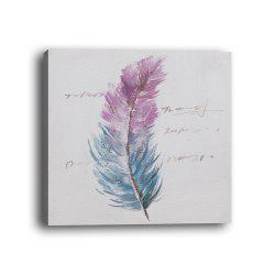 Framed Canvas Background Wall Simple Small Fresh Feather Decorations Print -