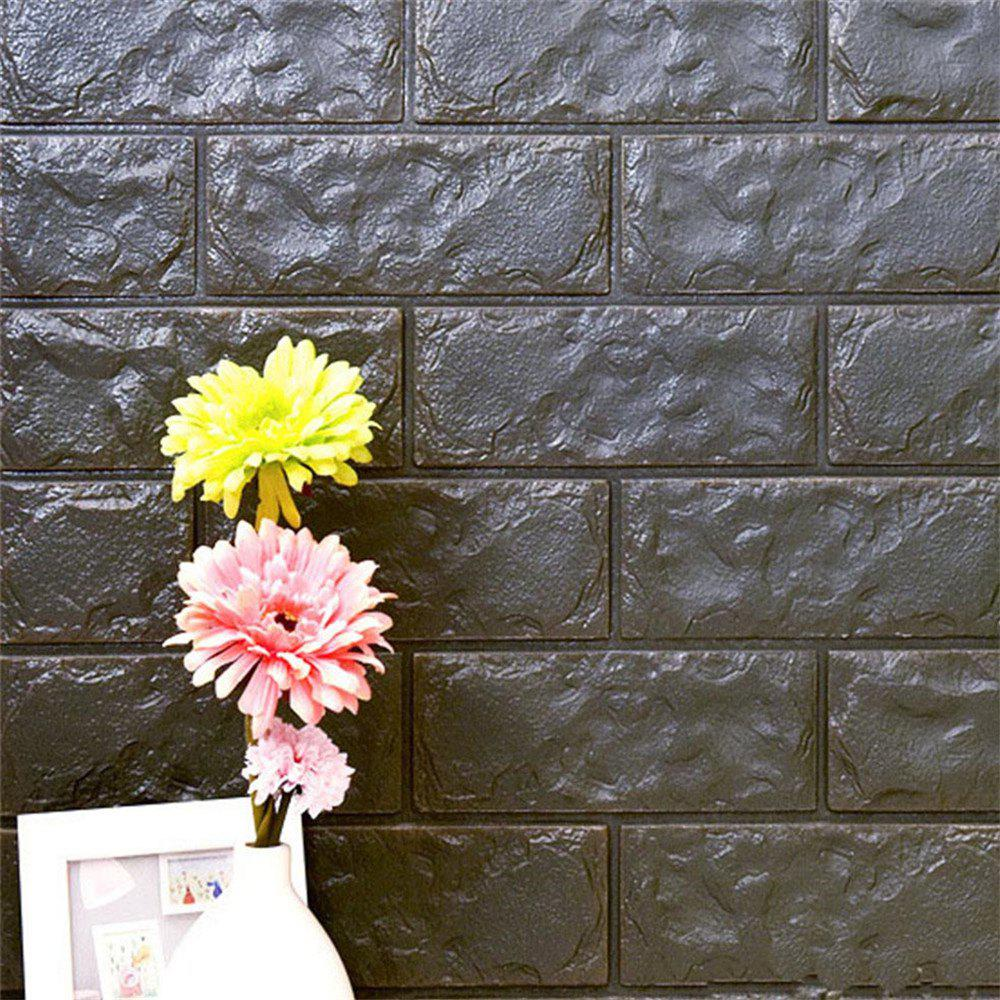 Online Self-Adhesive Waterproof Collision 3D Stone Brick Wallpaper Home Decorition
