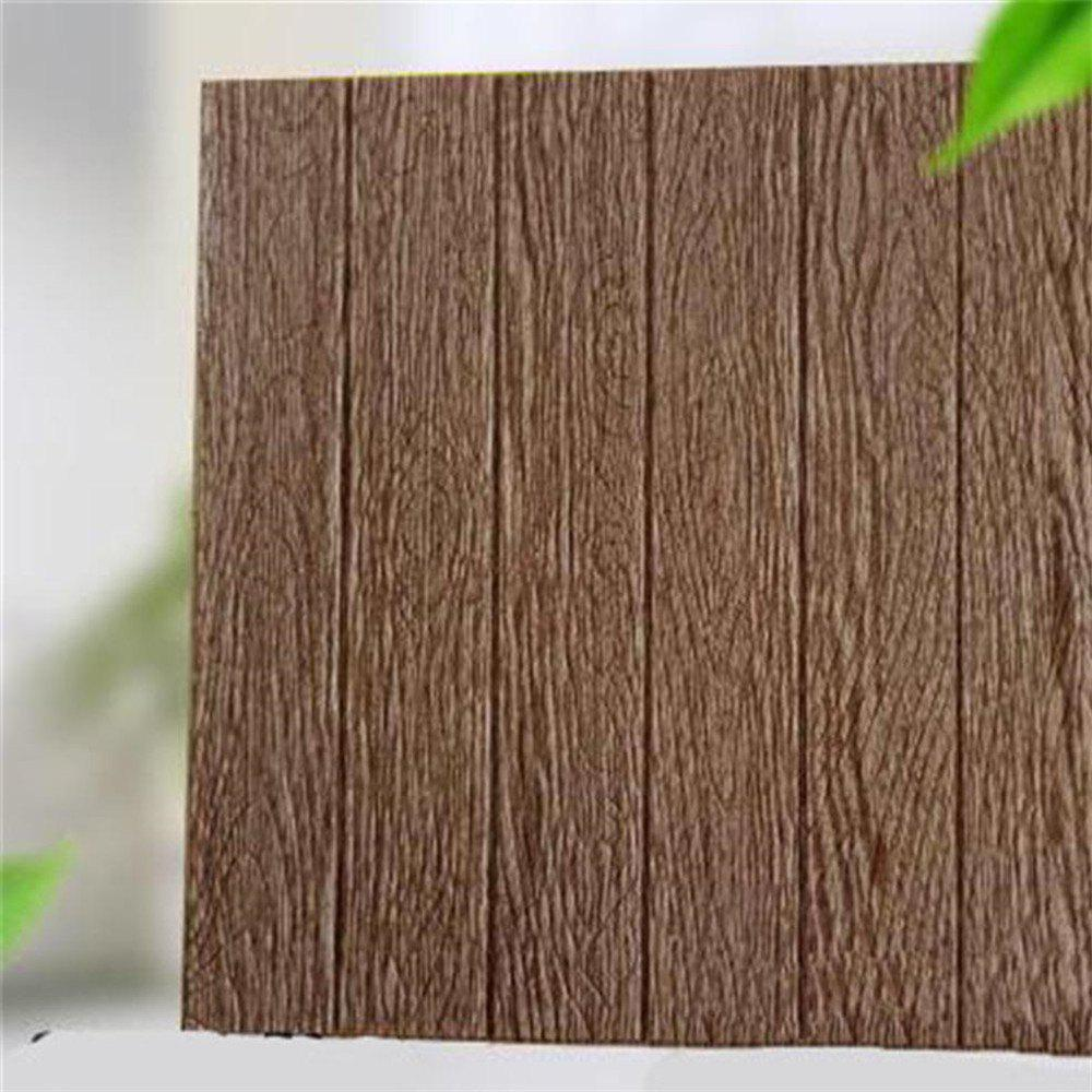 Outfits DIY Self Adhesive 3D Wood Grain Waterproof Wall Stickers Home Decor