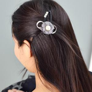 Rhinestone Decoration Flower Bowknot Hairpin -