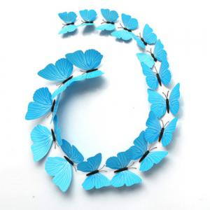 12 PCS 3D DIY Wall Sticker Butterfly Home Decor -