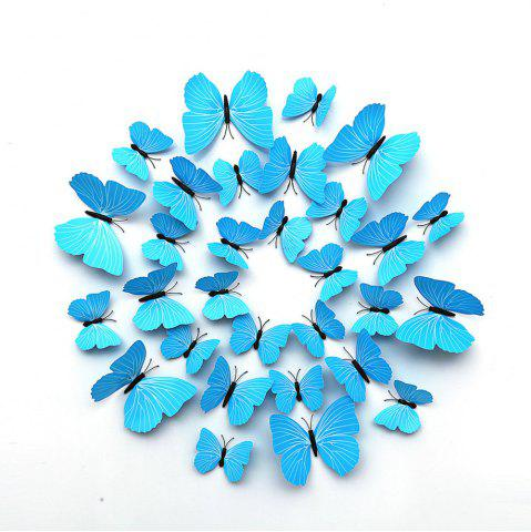 Chic 12 PCS 3D DIY Wall Sticker Butterfly Home Decor
