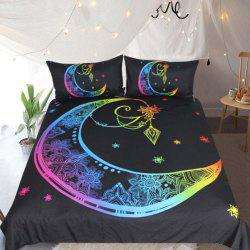 Colorful Bedding Moon Star Duvet Cover Set 3pcs -