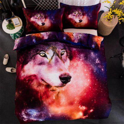 Jeu de literie 3D Starry Wolf Explosive Three-Piece